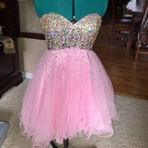 Pink sparkly party dress